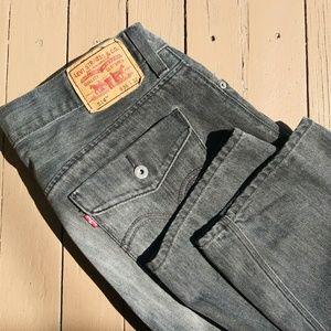 Levi's 514 Slim Straight Jeans Black Size 36 X 32